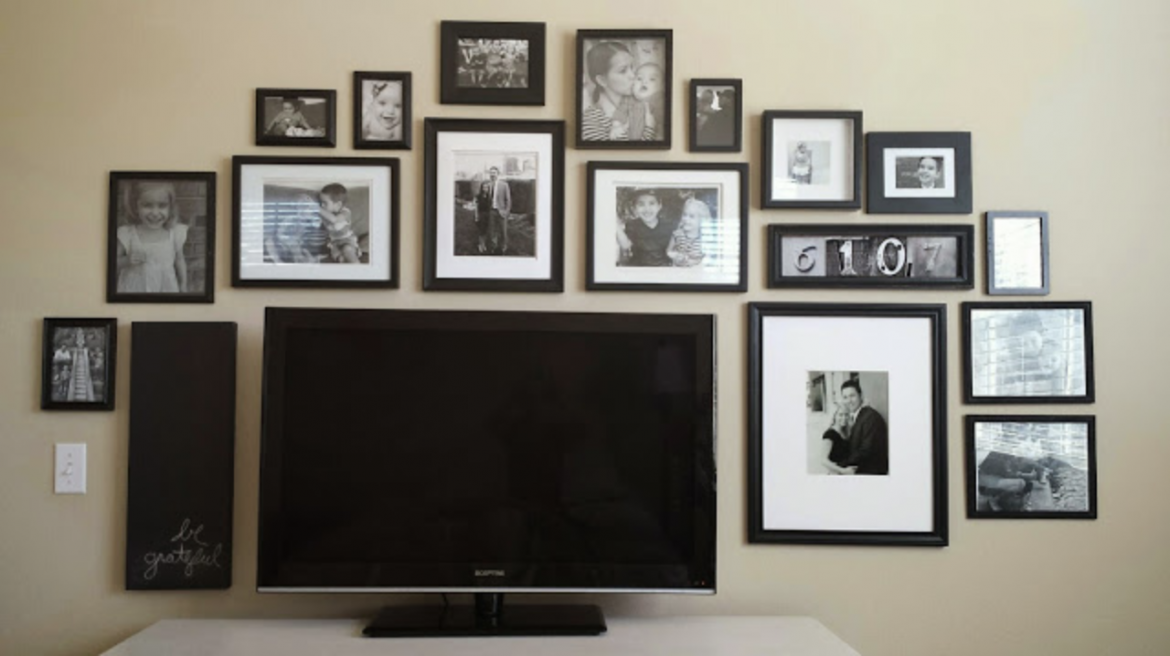 Black and White TV Gallery Wall